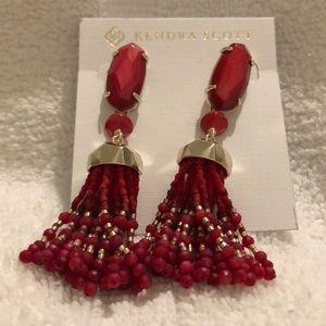 Kendra Scott Dove Tassel Drop Earrings NWT